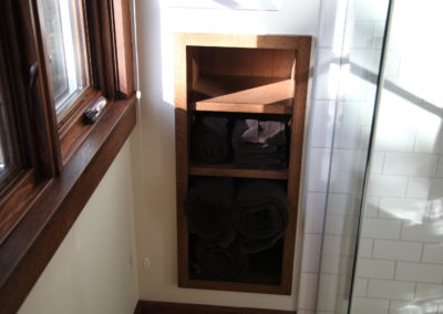 Custom Bathroom Built-in Shelf