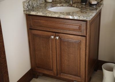 Custom Half Bath Cabinetry
