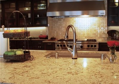 Custom kitchen cabinets and granite counter top